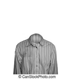 Invisible Man - Invisible man isolated on pure white...