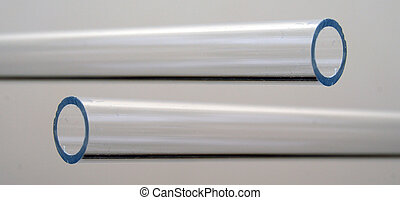 Acrylic Piping - A small clear acrylic pipe with a 1/8th...