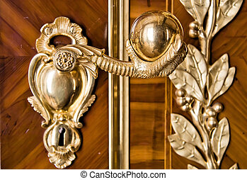 Luxury door handle. - Door handle looking like eagle paw.