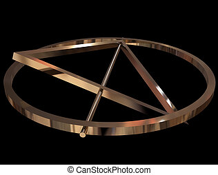 Deathly Hallows sign - Symbol of Deathly Hallows made of...
