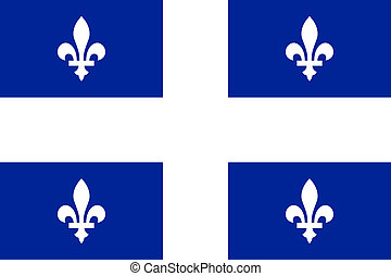 Quebec flag - Illustration of Canadian state of Quebec flag,...