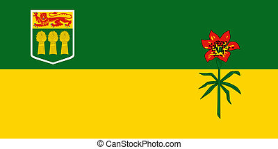 Saskatchewan flag - Illustration of Canadian state of...