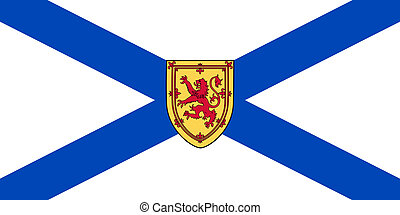 Nova Scotia state flag - Illustration of Nova Scotia...