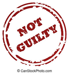 Not guilty stamp or seal, isolated on white background
