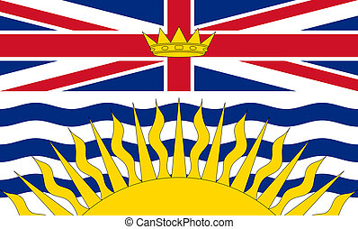 British Columbia flag - Illustration of Canadian state of...