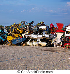 Junk Cars On Junkyard - Old Junk Cars On Junkyard