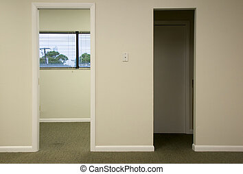 doorways in office space - Two doorways in modern office...