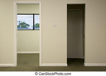 doorways in office space - Two doorways in modern office...