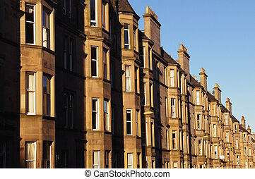 Residential property, Edinburgh - A street of residential...