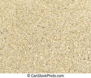 Rice Background - Pronounced texture of the long grain rice,...