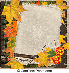 Autumn card for the holiday