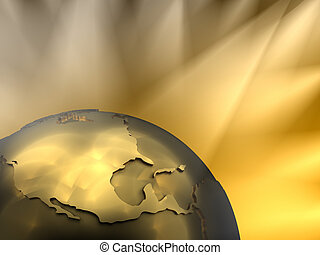 Gold Globe Close-up, North America - Gold globe close-up -...
