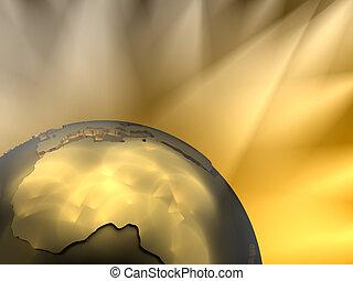 Gold Globe Close-up, Africa