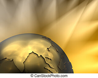 Gold Globe Close-up, Asia