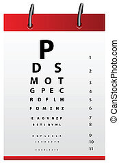 eye testing board - illustration of eye testing board on...