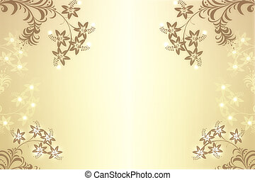 Beautiful abstract floral background - Beautiful abstract...