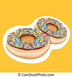colorful doughnuts - illustration of colorful doughnuts
