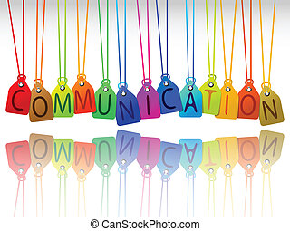 communication tags, abstract art illustration