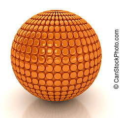 3d abstract sphere.