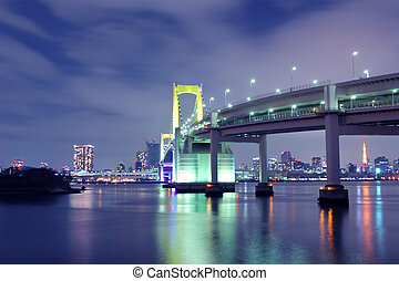 Tokyo Rainbow bridge - one of famous Tokyo landmarks, Tokyo...
