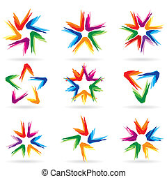 Set of different stars icons 11 - Set of different stars...