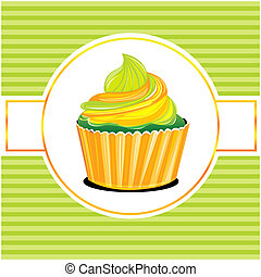 muffin - illustration of muffin on abstract background