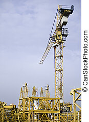 Fragmented Cranes - Fragmented and a mounted Cranes with...