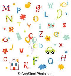 Alphabet, letters