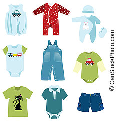 Baby boy elements, clothes