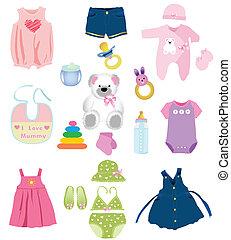 Baby girl elements