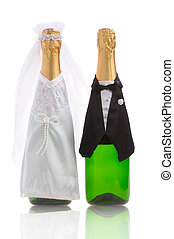 wedding-day - The groom and the bride. A wedding still-life