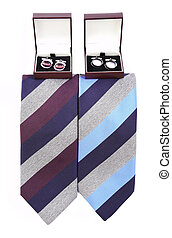Man's tie with cuff links