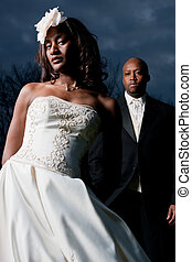 Wedding couple - African American Wedding couple