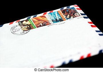 Stamped Airmail - Stamped airmail envelope mailed from Hong...