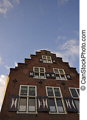 Canal house in Utrecht - Facade of a monumental canal house...
