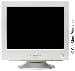 CRT monitor cutout - Old CRT computer monitor isolated...