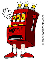 Jackpot Slot Machine - An image of a cartoon slot machine...