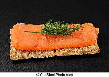 Smocked Salmon Snack