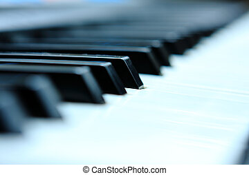 Close-up of a electronic piano keyboard