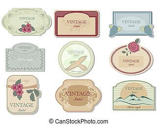 Vintage label - Vector vinage label set