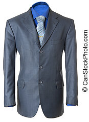 Classic business jacket #1 | Isolated - Empty blue office...