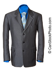 Classic business jacket #2   Isolated - Empty grey office...