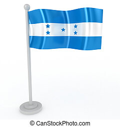 Flag of Honduras - Illustration of a flag of Honduras on a...