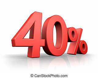 Red Forty Percent