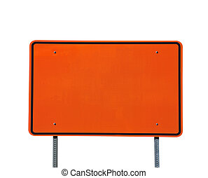 Big Blank Orange Highway Sign - Big blank orange highway...