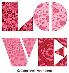 Amore, testo, valentines, giorno, matrimonio, o,...