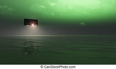 UFO Over The Sea