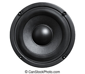 Loudspeaker - Close up of audio black loudspeaker isolated...