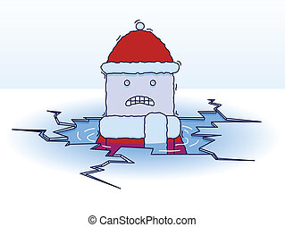 Falling through the ice - A character freezes after falling...