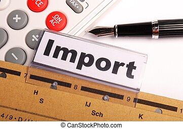 import word on business office folder showing internation...